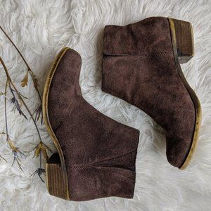 LUCKY BRAND  Suede Booties | Brown Sz 7.5